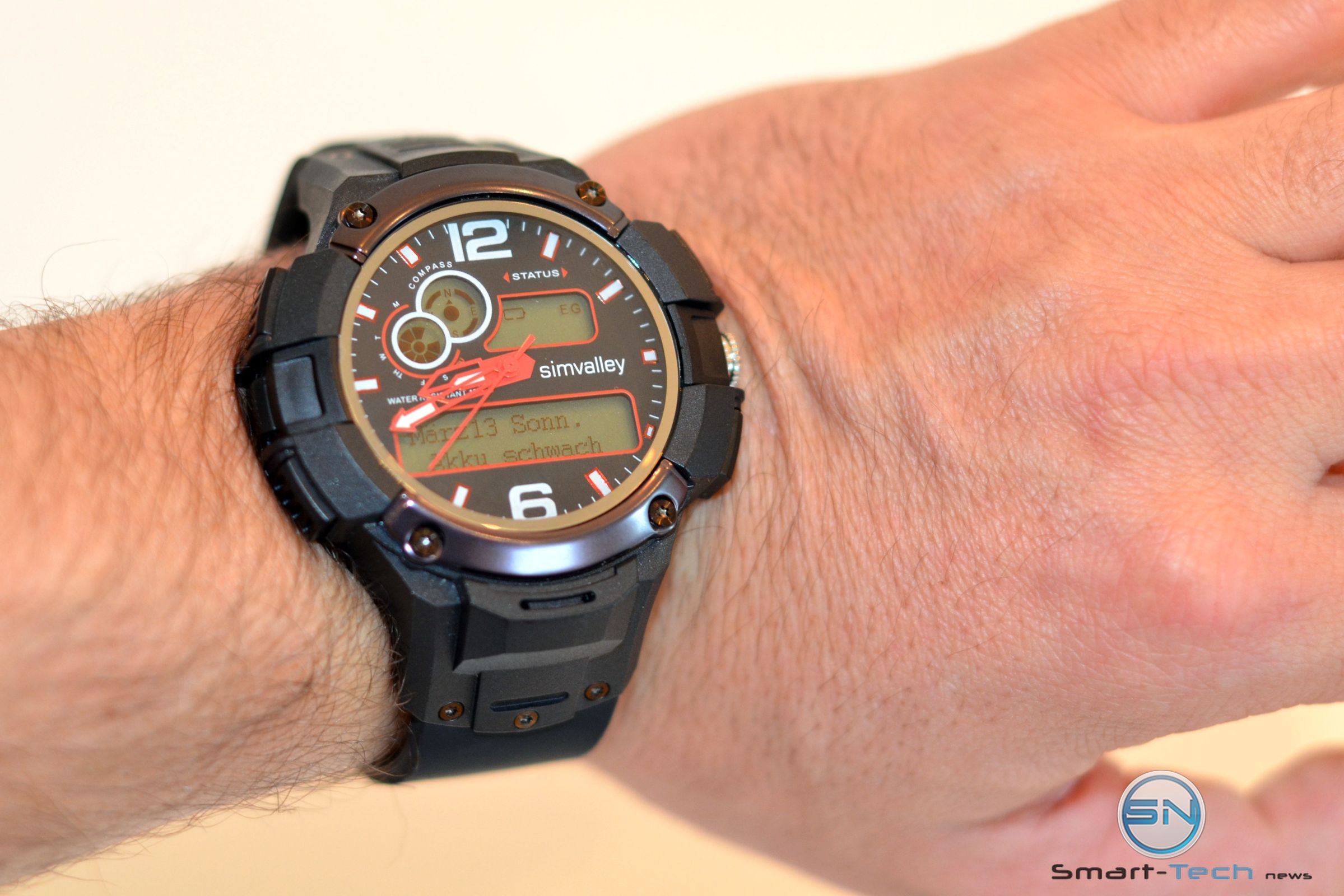 Simvalley Mot 15.g – Sportuhr mit GPS