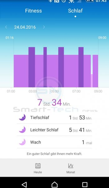 Huawei TalkBand B2 - Schlaftracking - SmartTechNews