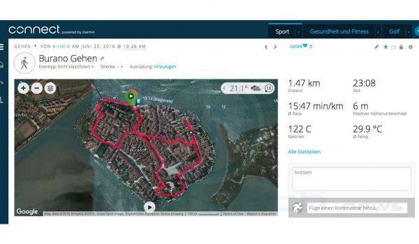 Burano Italien - Garmin Fenix 3 HR Saphir - SmartTechNews