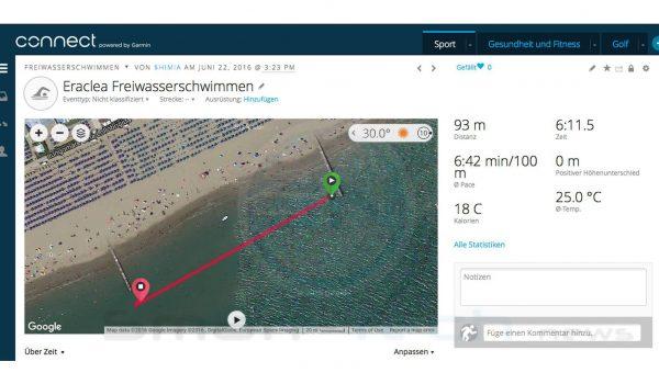 Freiwasser Salzwasser schwimmen - Garmin Fenix 3 HR Saphir - SmartTechNews