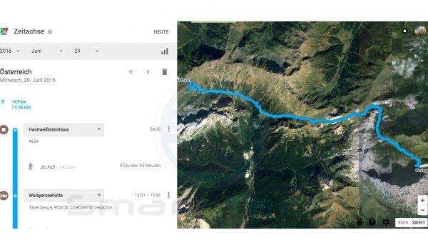 GPS Tracking - Google Maps Zeitachse - SmartTechNews