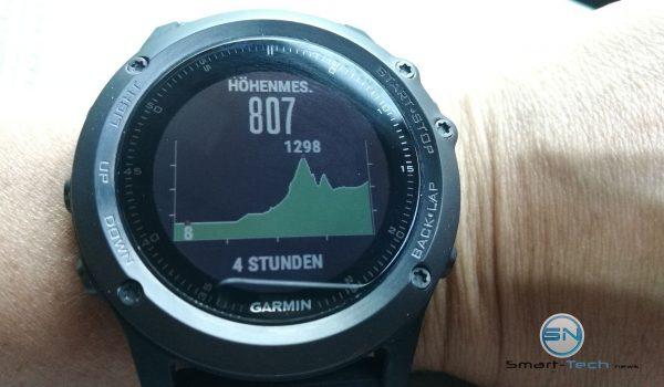 Höhenmesser Dauer 4 Stunden - Gramin fenix 3 HR - SmartTechNews