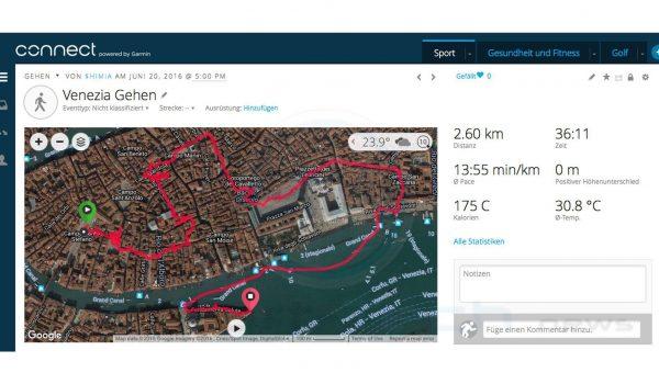 Venedig Italien - Garmin Fenix 3 HR Saphir - SmartTechNews