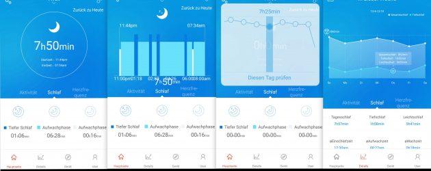 App Schlafauswertung NewGen FBT55 HR SmartBand