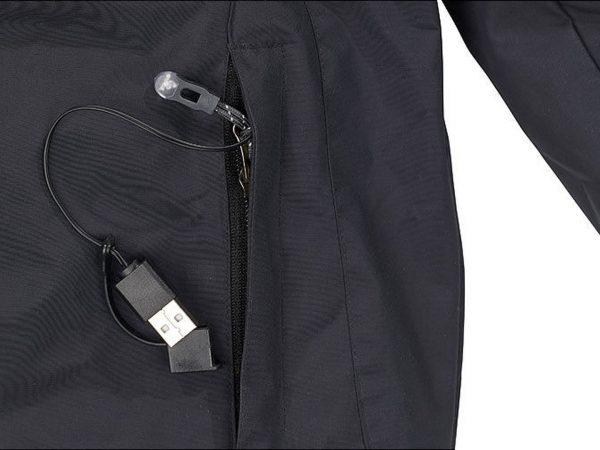 USB Anschluss - beheizbare Outdoor Fleece Jacke
