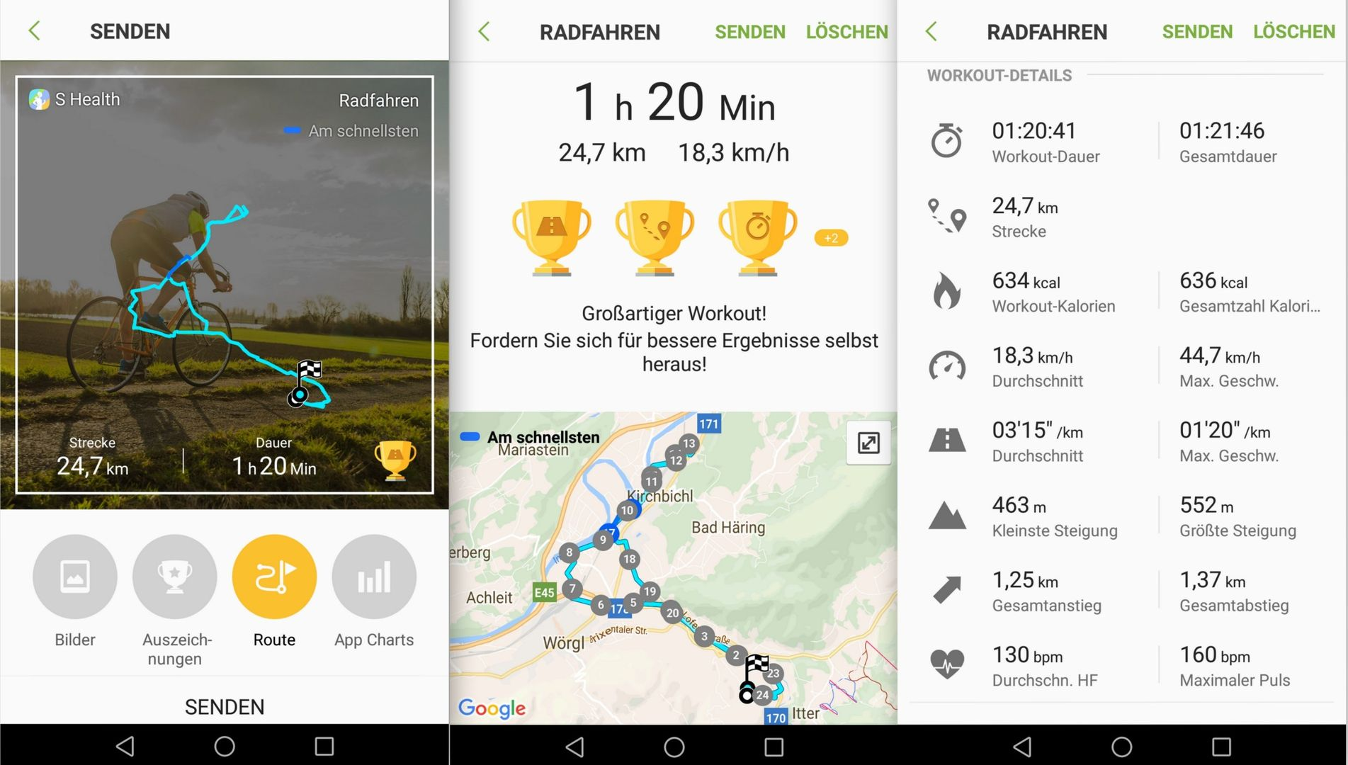 Bike Tour S Health - Samsung Gear S3 - SmartTechNews