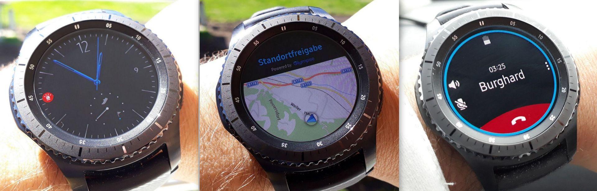 Notfall GPS Maps Call aktiv - Samsung Gear S3 - SmartTechNews