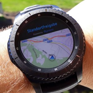 Notfall Maps Ansicht Tracking - Samsung Gear S3 - SmartTechNews