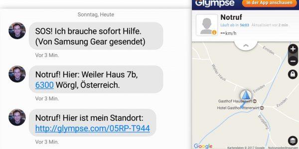 Notfall SMS Maps Standort - Samsung Gear S3 - SmartTechNews