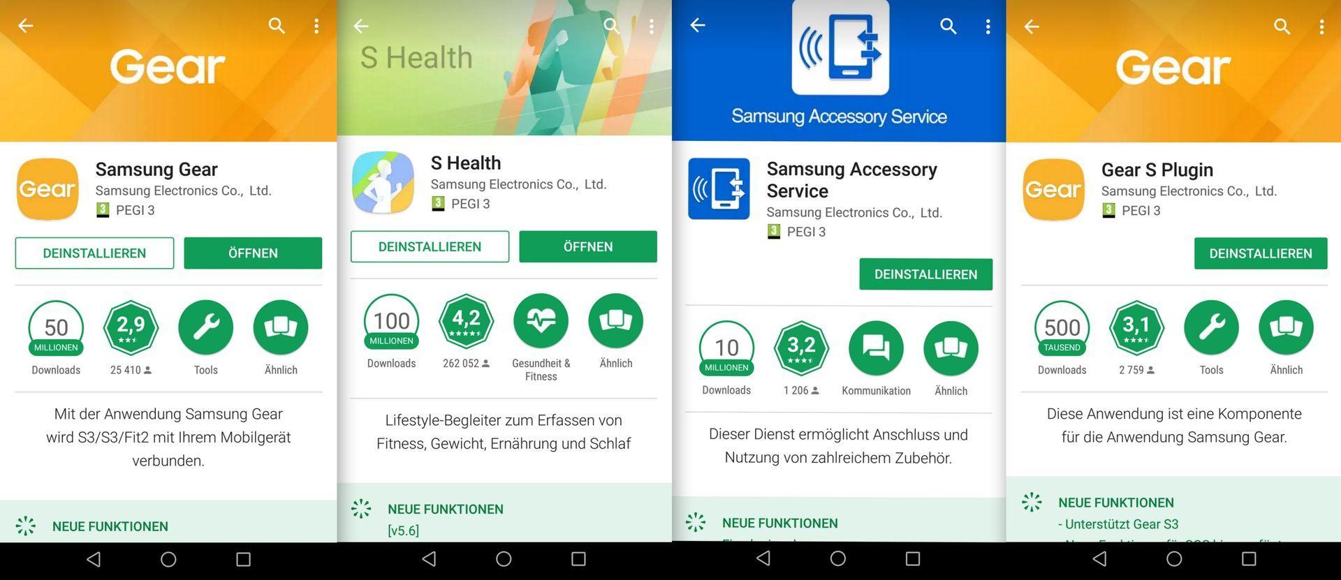 benötigten Apps - Samsung Galaxy Gear S3 - SmartTechNews