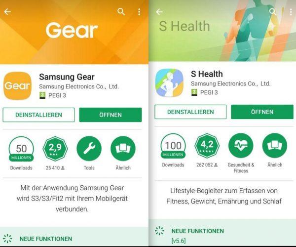 mobile 1 benötigten Apps - Samsung Galaxy Gear - S3 - SmartTechNews