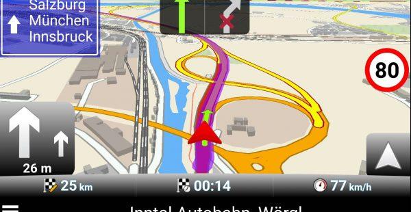 MapFactor Navigator - Spurassistent und Beschilderung