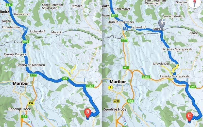 Sygic manuelle Straßenführung Vorgabe - SmartTechNews