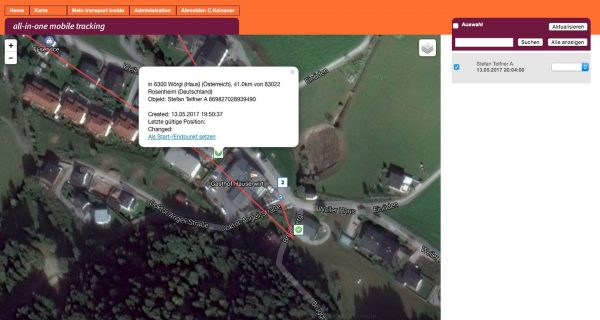 Tracking Point Abfrage - Pe-SOS TrackingTracking Point Abfrage - Pe-SOS Tracking