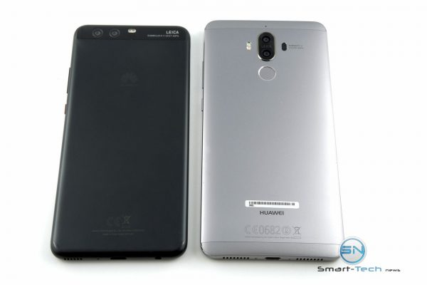 Huawei P10 plus vs Huawei mate 9 Backside - SmartTechNews