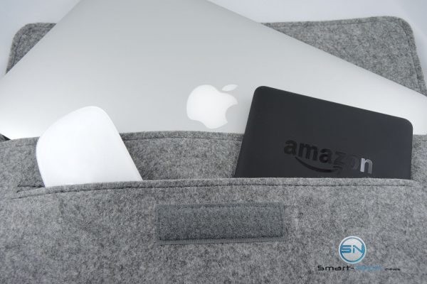 Maus und eReader Fach - Filztasche Laptop Tasche - SmartTechNews