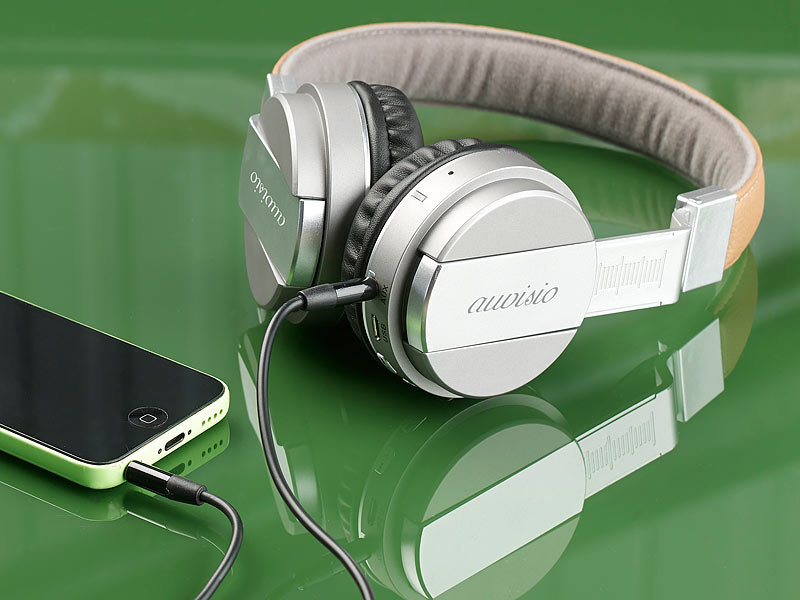 Klinke auvisio Bluetooth Headset Faltbarer On-Ear-Kopfhörer mp3 Fm Radio