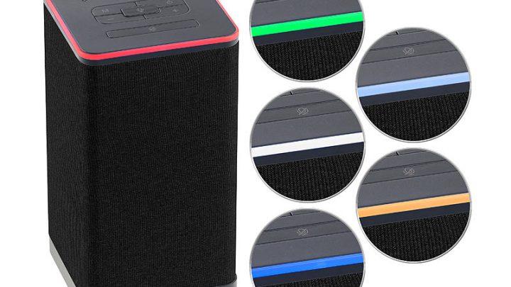 Auvisio Multiroom Akku Lautsprecher mit Alexa Sprachsteuerung