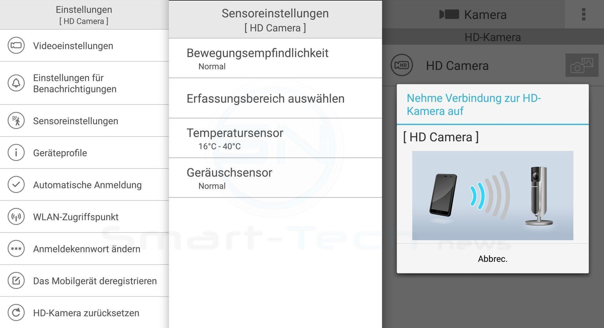 Überwachung - Panasonic SmartHome KX-HNC800 Full HD Kamera - SmartTechNews