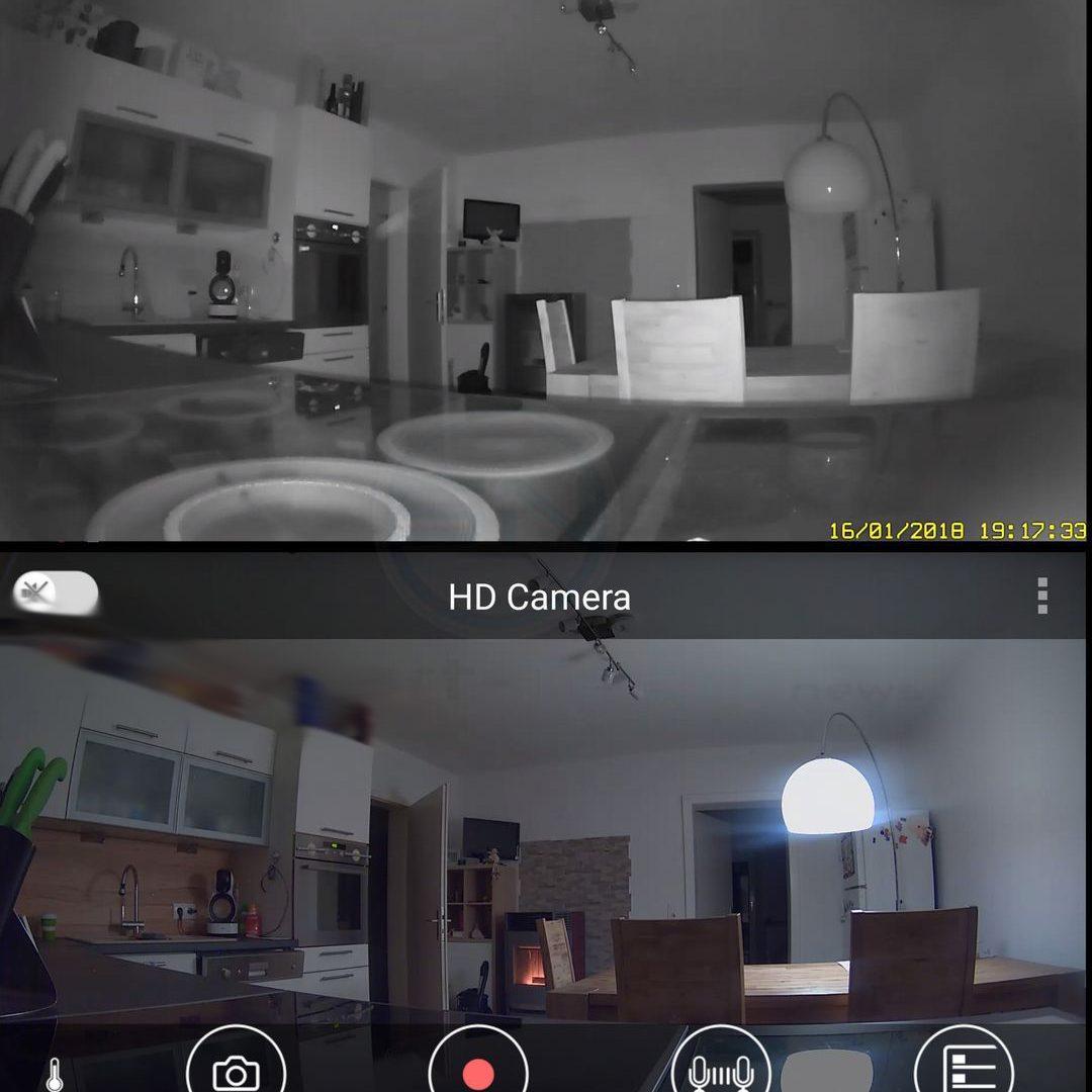 Kamera Sicht Tag Nacht - Panasonic SmartHome KX-HNC800 Full HD Kamera - SmartTechNews