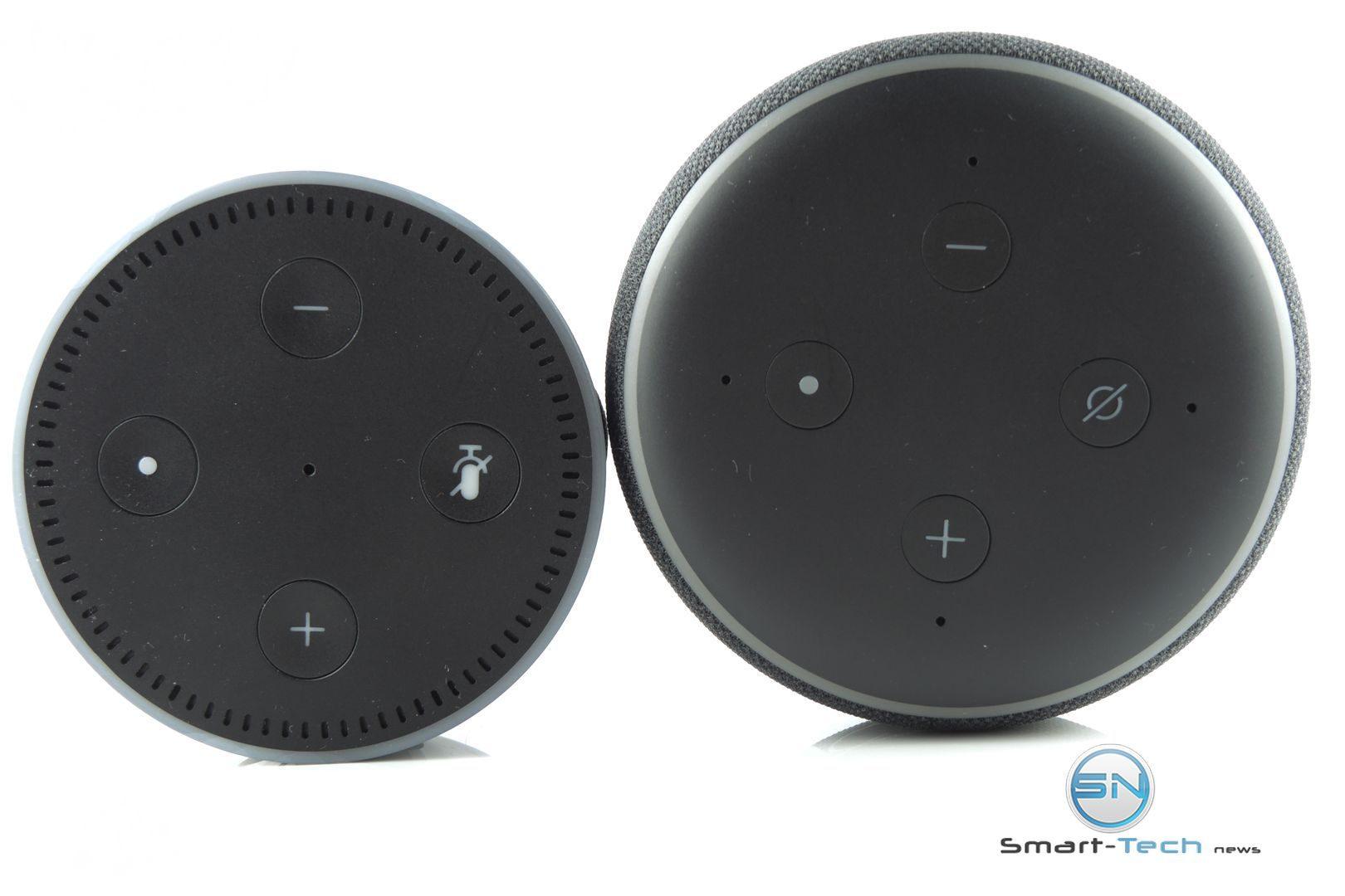 Ansicht oben - Amazon Echo Dot 3 vs Dot 2 - SmartTechNews