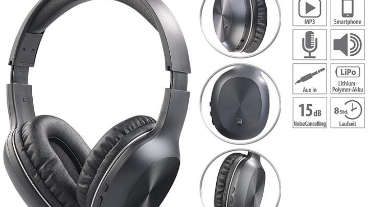 Auvisio OnEar OHS 360 mit Active Noise Cancelling 15 dB